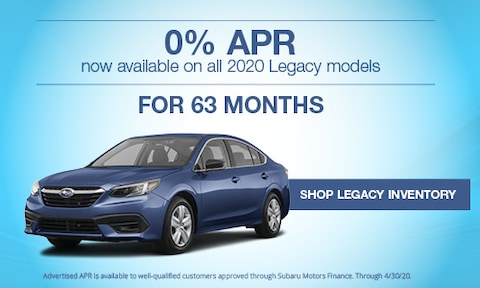 New 2020 Subaru Legacy March APR Offer