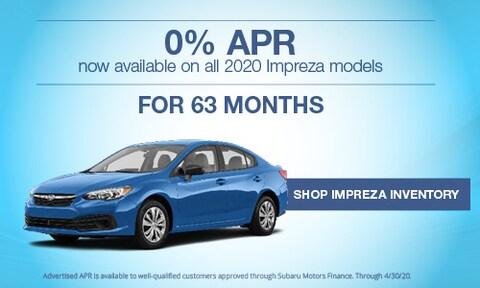 New 2020 Subaru Impreza March APR Offer