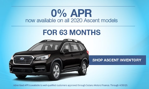 New 2020 Subaru Ascent March APR Offer