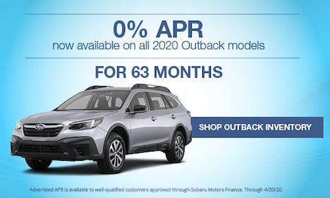 New 2020 Subaru Outback March APR Offer