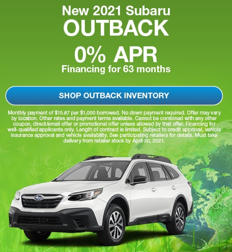New 2021 Subaru Outback- April Offer