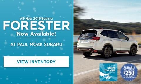 New 2019 Subaru Forester at Paul Moak Subaru