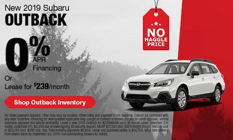 September Subaru Outback Offer
