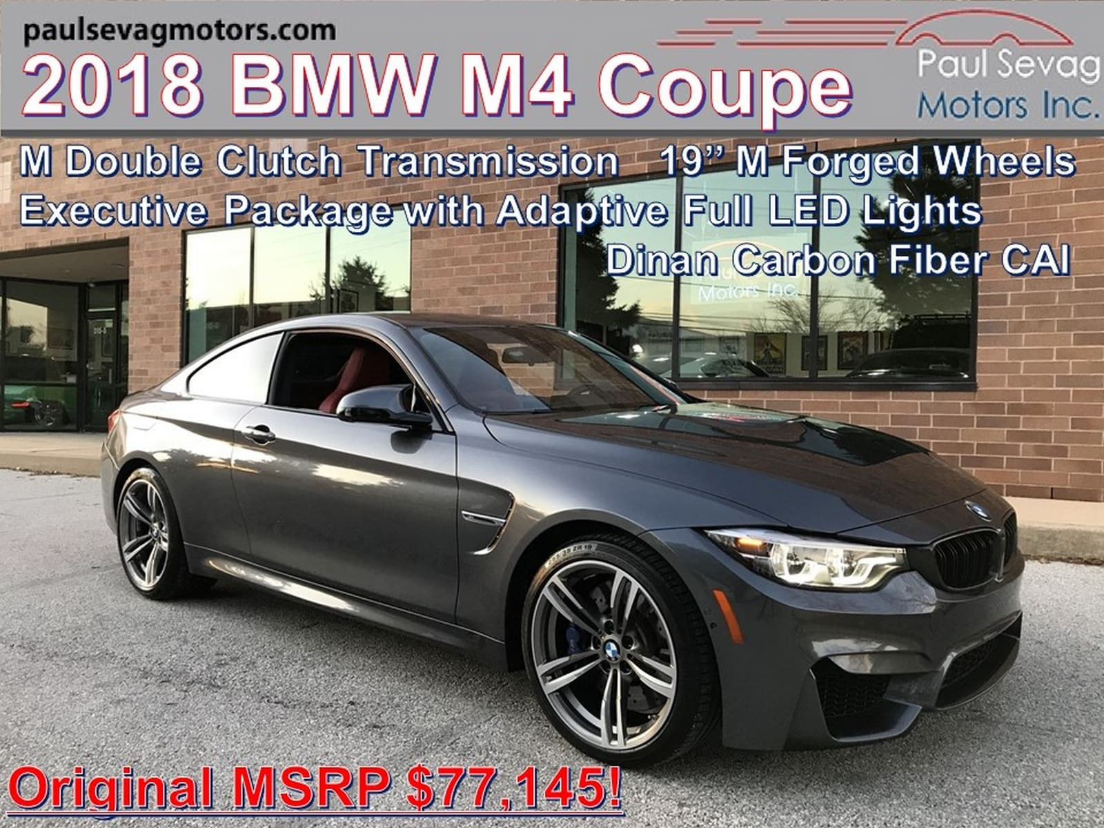 2018 BMW M4 Coupe M Double Clutch Transmission/Executive Package