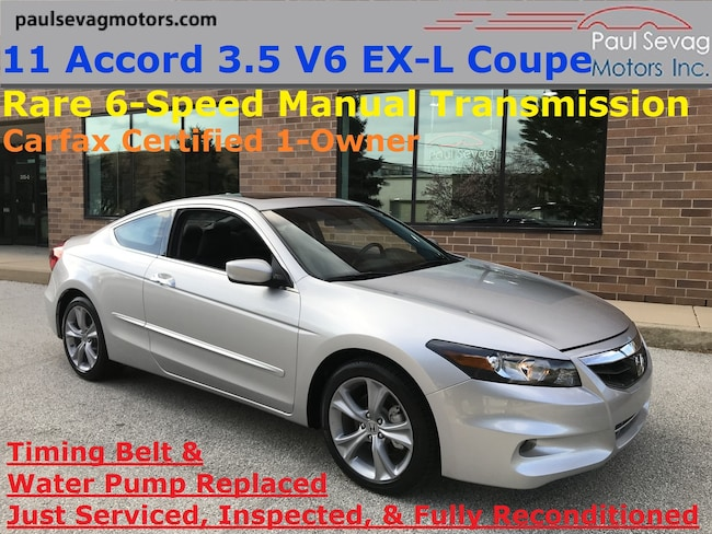 2011 Honda Accord 3.5 V6 EX-L 6-Speed Manual Coupe/1-Owner and Fully Serviced Coupe