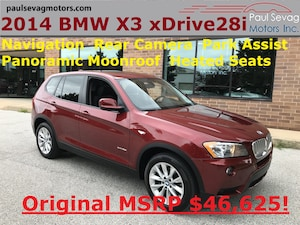 2014 BMW X3 xDrive28i Navigation/Driver Assistance Pkg/Pano Roof/Fully S