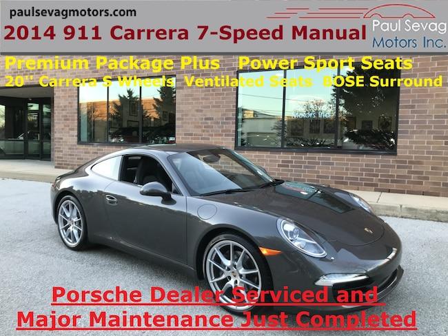 2014 Porsche 911 Carrera Coupe 7-Speed Manual/Premium Pkg Plus/MSRP $94,475 Coupe