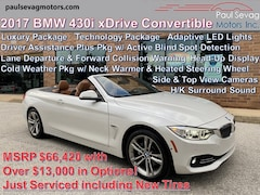 2017 BMW 430i xDrive Convertible Luxury Line/Driver Assistance Plus/Technology/Cold Weather/HK Surround Sound