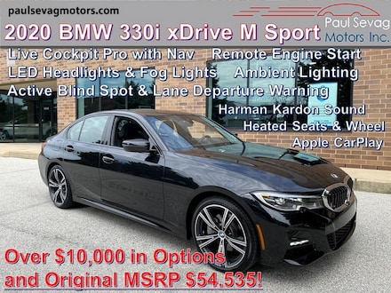 2020 BMW 330i xDrive M Sport Package/Live Cockpit with Nav/LED Headligh