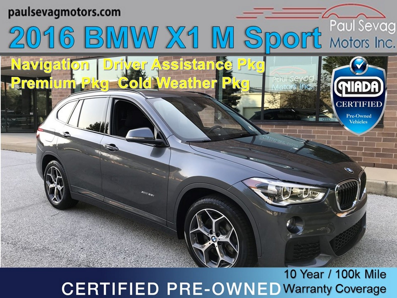 2016 BMW X1 xDrive28i M Sport Pkg Driver Assistance/Cold Weather/Premium