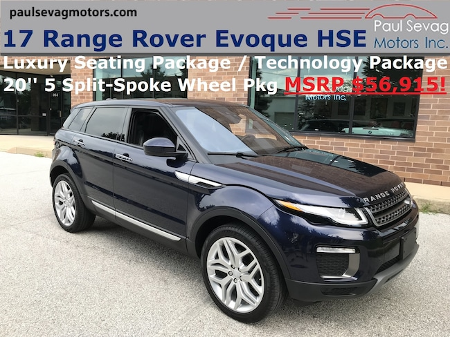 2017 Land Rover Range Rover Evoque HSE Luxury Seating Pkg/Pano Roof/20'' Wheels/MSRP $56, SUV