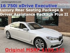 2016 BMW 750i xDrive Executive Luxury Rear Seating/Driver Assistance Plus II/MSRP