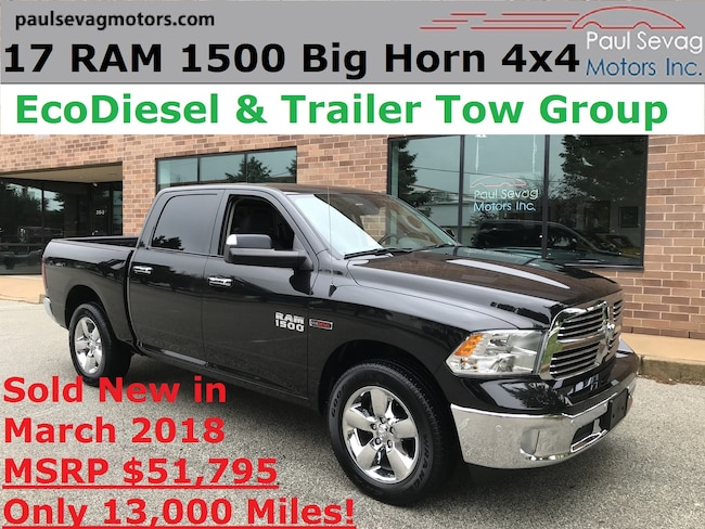 2017 Ram 1500 Crew Cab  Big Horn 4x4 EcoDiesel/Trailer Tow Group/MSRP $51,795 Truck Crew Cab