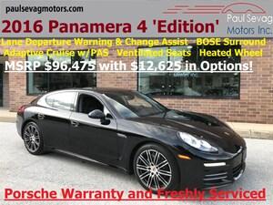 2016 Porsche Panamera 4 Edition Premium Pkg Plus/MSRP $96,475