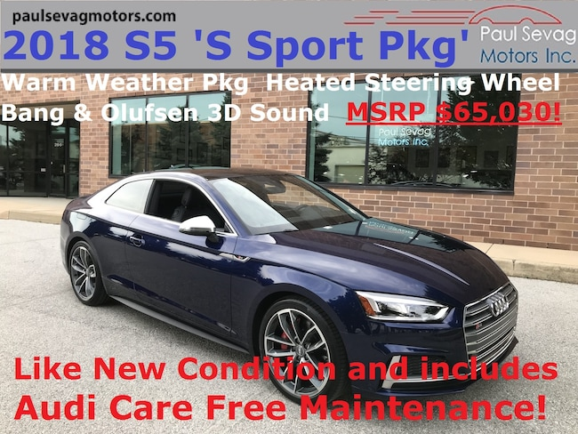 2018 Audi S5 3.0T Premium Plus Quattro S Sport Pkg/Warm Weather Pkg/MSRP $65,030 Coupe