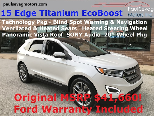 2015 Ford Edge Titanium EcoBoost 301A Technology Pkg/Vista Roof/20'' Wheels SUV