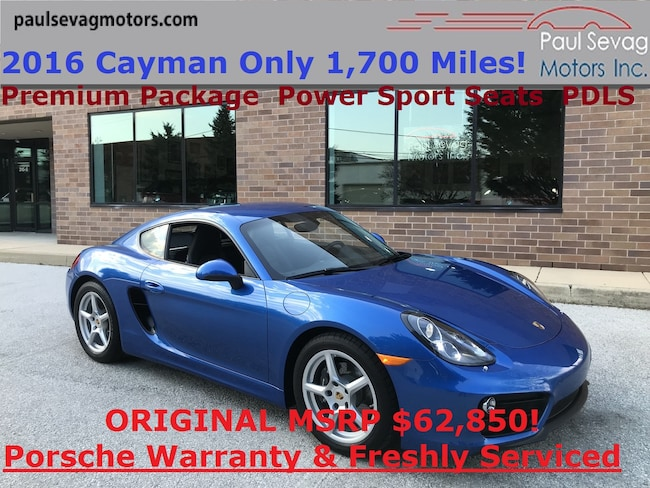 2016 Porsche Cayman 7-Speed PDK Premium Pkg/Power Sport Seats/MSRP $62,850 Coupe