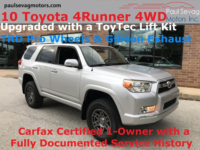 2010 Toyota 4Runner V6 4WD with TRD Pro Wheels/Toytec Lift Kit/1-Owner with Full H SUV