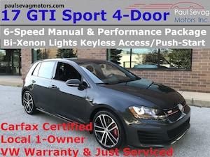 2017 Volkswagen Golf GTI 4-Door Sport 6-Speed/Smart Key/Bi-Xenons/VW Warranty