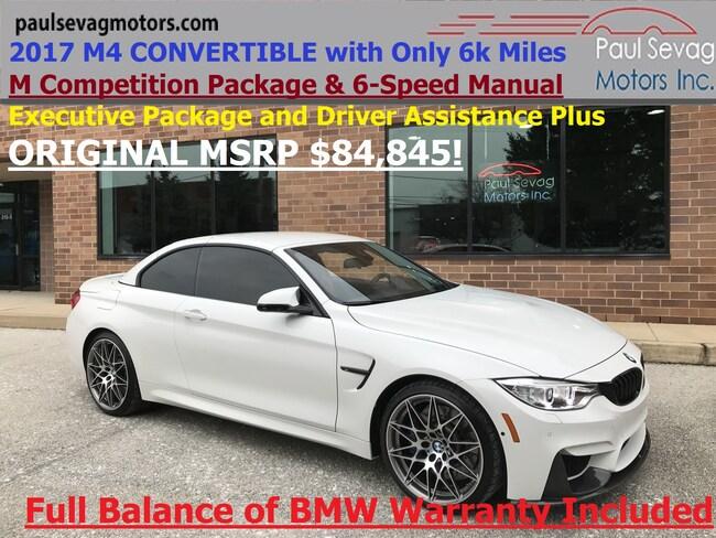 2017 BMW M4 Convertible M Competition Pkg/Executive Pkg/Driver Assistance Convertible