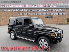 2010 Mercedes-Benz G550 4MATIC Only 1-Owner