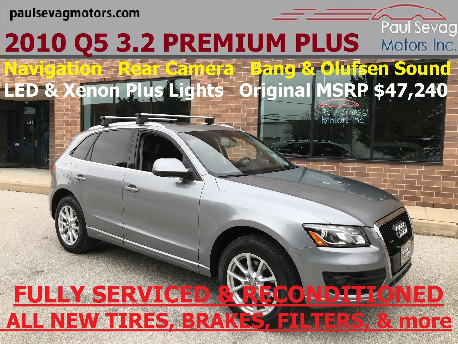 2010 Audi Q5 3.2 Quattro Premium Plus Navigation/Bang & Olufsen/MSRP $47,240 SUV