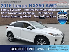 2016 LEXUS RX 350 AWD Premium with 12.3'' Navigation/Safety System+/Intuitive Park Assist/20'' Wheels/Touch-Free Tailgate