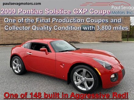 2009 Pontiac Solstice GXP Coupe with Only 3,800 Miles - Museum & Investment Qualit