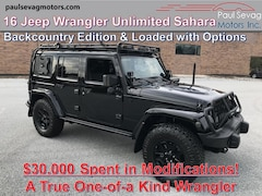 2016 Jeep Wrangler Unlimited Sahara Backcountry 4x4 with $30,000 Spent in Modifications