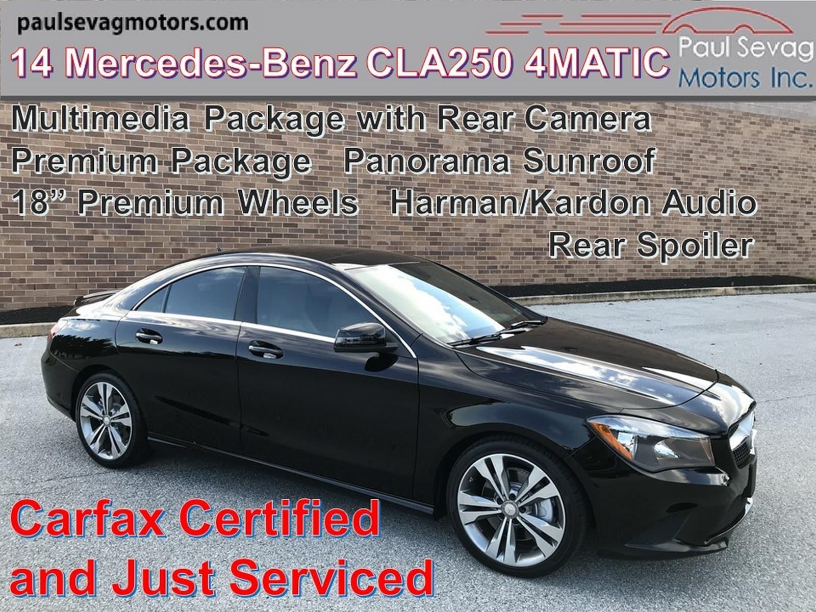 2014 Mercedes-Benz CLA 250 4MATIC Multimedia Pkg/Pano Roof/Premium Wheels/Rear Spoil