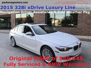 2015 BMW 328i xDrive Luxury Line Sedan Navigation/Driver Assistance/MSRP $49,645