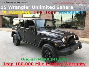 2015 Jeep Wrangler Unlimited Sahara 4x4 'X' PACKAGE/Dual Tops/Navigation