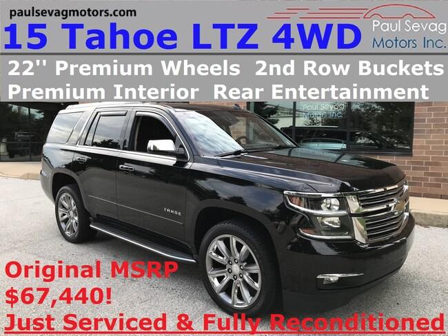 2015 Chevrolet Tahoe LTZ 4WD Navigation/Rear Entertainment/Max Tow Pkg/22'' Whe SUV