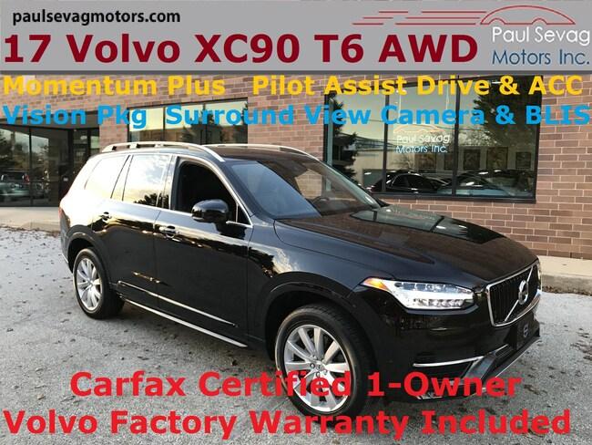 2017 Volvo XC90 T6 AWD Momentum Plus/Vision Pkg/Climate Pkg/Pilot Assist Autonomou SUV