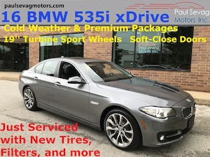 2016 BMW 535i xDrive Sedan Premium/Cold Weather Pkgs/19'' Turbine Wheels/MSRP
