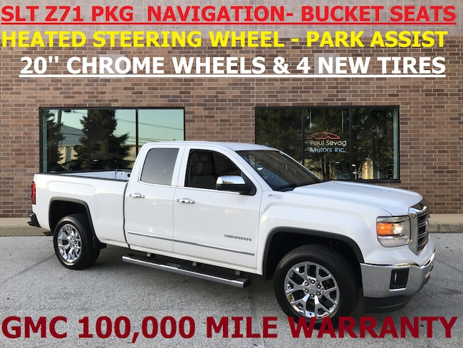 2014 GMC Sierra 1500 SLT Z71 with Navigation/Park Assist/Heated Steering Wheel Truck Double Cab