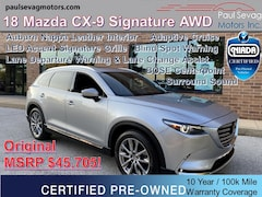 2018 Mazda CX-9 Signature AWD Auburn Nappa Interior/Adaptive Cruise/LED Signature Grille/Head-Up Display