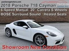 2018 Porsche 718 Cayman 6-Speed with BOSE Surround/Heated Seats/20'' Carrera S Wheels
