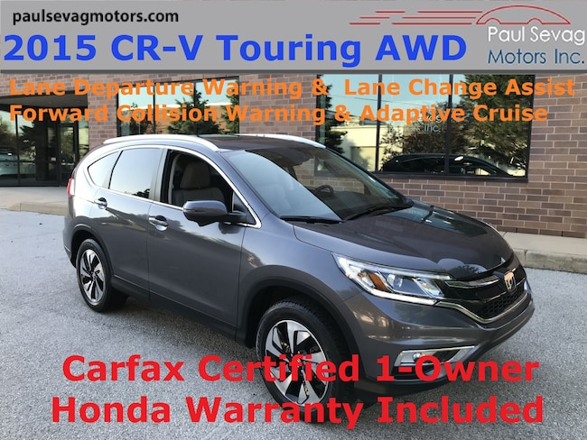 2015 Honda CR-V Touring AWD Lane Change Assist/Lane Departure & Collision Warn SUV