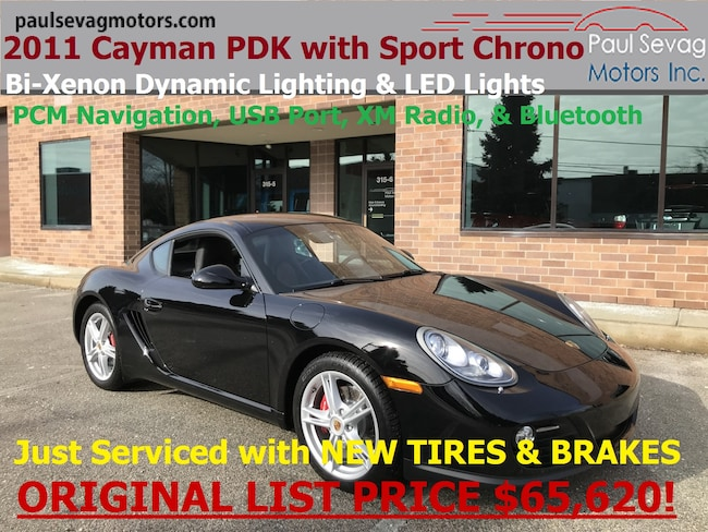 2011 Porsche Cayman PDK with Sport Chrono/Navigation/Xenons/MSRP $65,620 Coupe