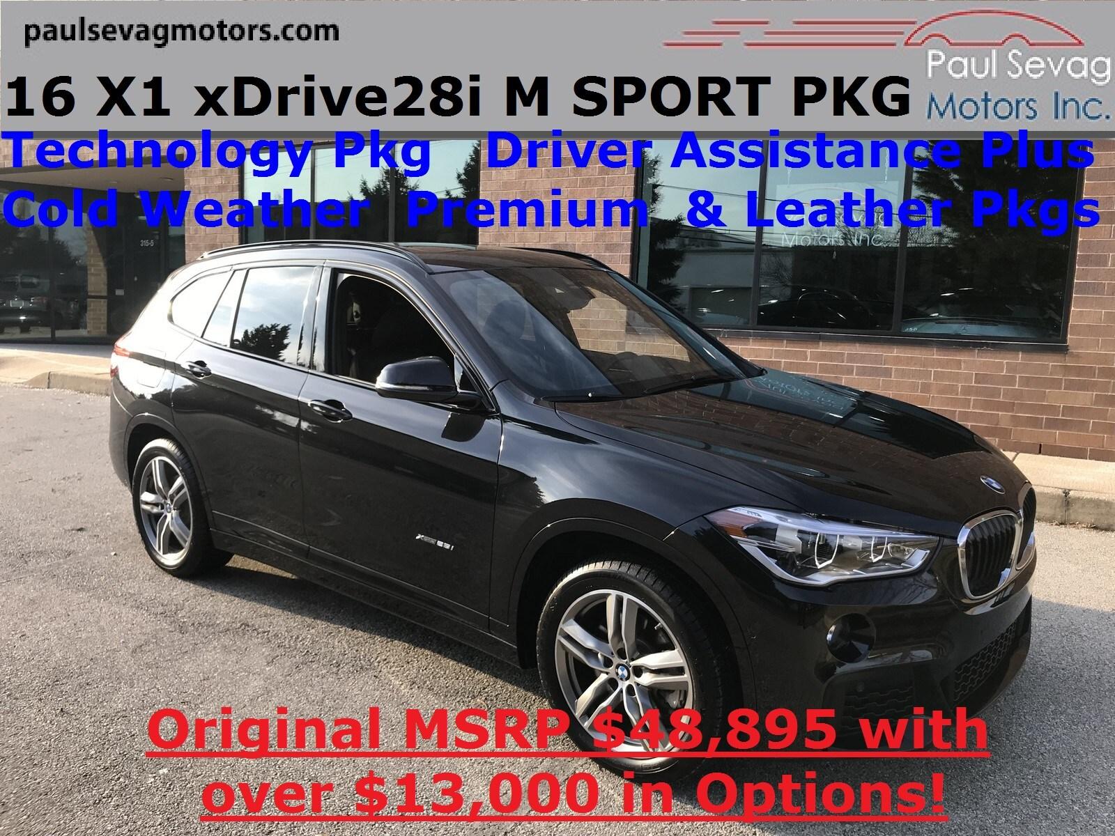 2016 BMW X1 xDrive28i M Sport Pkg Technology/Driver Assistance Plus/Cold Weather/MSR SUV