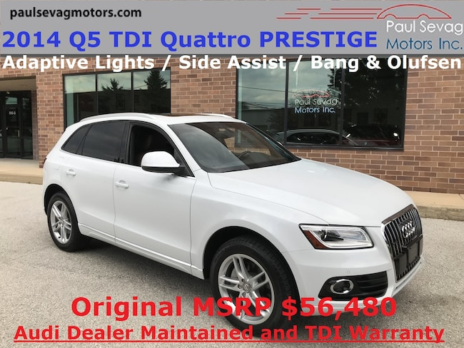 2014 Audi Q5 TDI Quattro Prestige Adaptive Lights/Side Assist/Sport Interior Pkg/MSR SUV