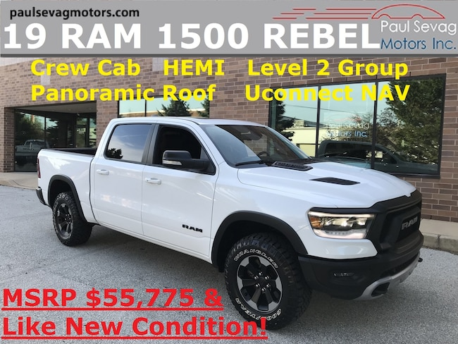 2019 Ram 1500 Crew Cab  REBEL Level 2 Group/Pano Roof/Uconnect NAV/MSRP $5 Truck Crew Cab