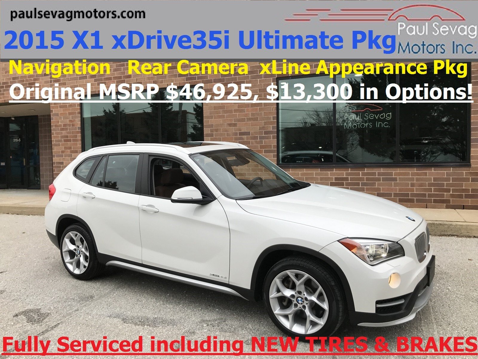 2015 BMW X1 xDrive35i xLine Ultimate Package/Cold Weather/MSRP $46,925 SUV