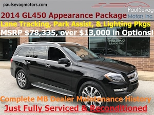 2014 Mercedes-Benz GL 450 4MATIC Appearance/Lane Tracking/Parking Assist/MSRP $78,3