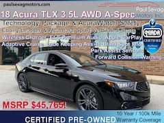 2018 Acura TLX 3.5L AWD Tech & A-Spec AcuraWatch Safety/Ebony Leather & Alcantara
