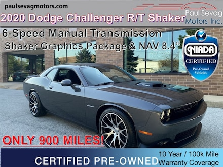 2020 Dodge Challenger R/T Shaker 6-Speed Manual/4C NAV with 8.4'' Display/Only 900 Miles