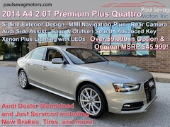 2014 Audi A4 2.0T Premium Plus Quattro Navigation Plus/Side Assit/Bang & Olufsen Audio