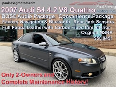 2007 Audi S4 4.2 V8 Quattro Nappa Recaro Seats/BOSE Audio/Navigation/Bluetooth/Complete Service History