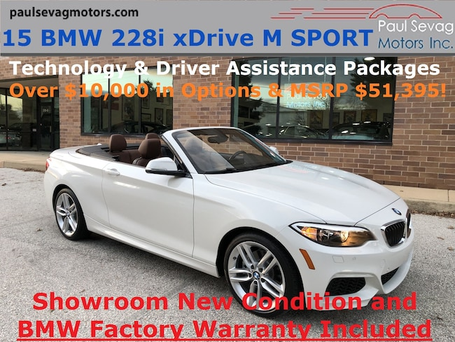 2015 BMW 228i xDrive M Sport Convertible Technology/Driver Assistance/MSRP $51,395 Convertible
